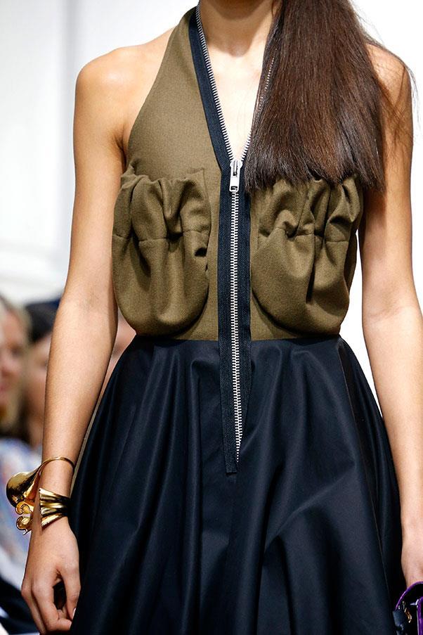 Ruched pockets on dresses.