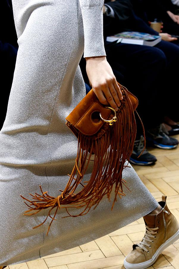 J.W.Anderon's pierced bags are revamped with fringing.