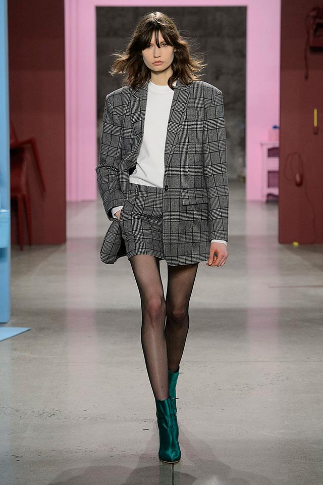 """<strong>7. Tibi</strong> <br></br> """"We've seen lots of tweed but this time it feels younger and cooler. It's how a downtown NY girl is going to be wearing tweed, which is why I loved this look. Talking to Amy Smilovic, she mentioned that every jacket she puts on nowadays needs to have shoulder pads and she does this look in a very cool way."""""""
