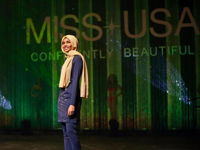 <strong>1. She was the first Miss USA contestant to wear a Hijab</strong> <BR><BR> Aden made headlines in November of last year when she wore a Hijab throughout the Miss Minnesota USA beauty pageant and a burkini during the swimsuit part of the competition.