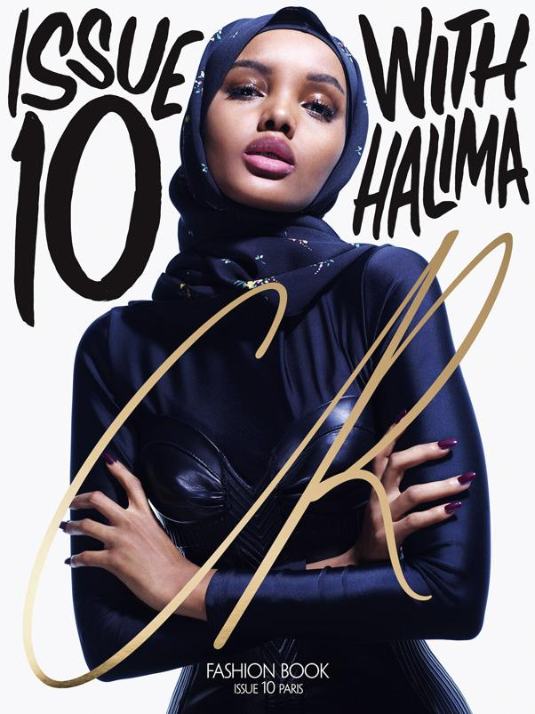 <strong>2. She's on the current cover of <em>CR Fashion Book</em></strong> <BR><BR> At just 19, Aden's first magazine cover has just been released, inside which she's interviewed by iconic '90s supermodel, and fellow Somali, Iman.