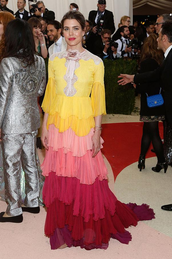 In Gucci at the Met Gala, May 2016.
