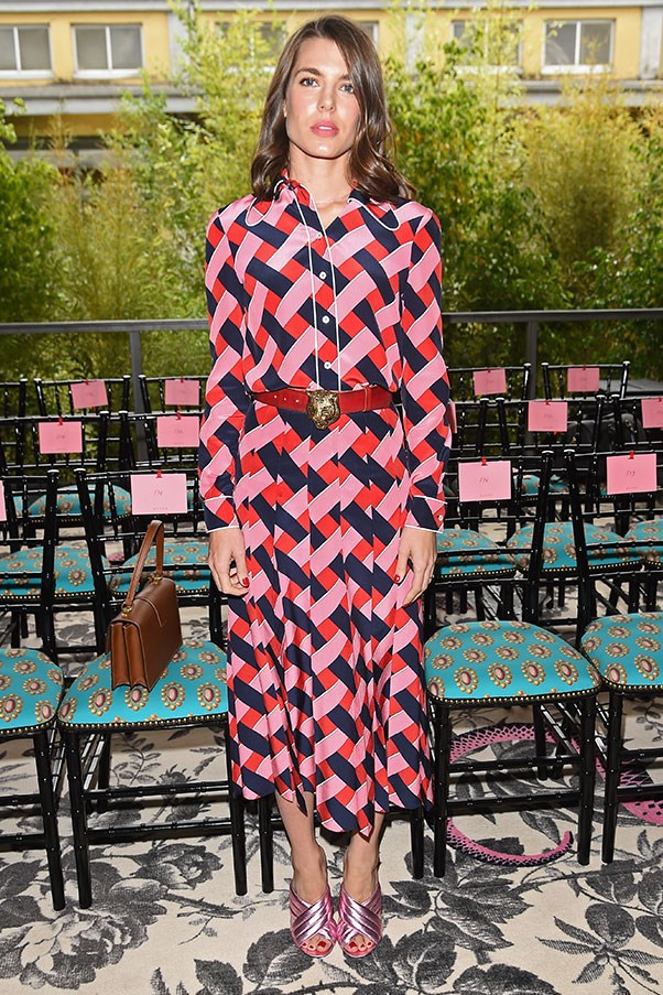 In Gucci at the brand's spring summer '16 show, September 2015.