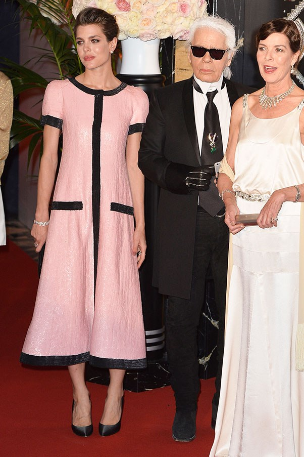 In Chanel at the Rose Ball, March 2015.