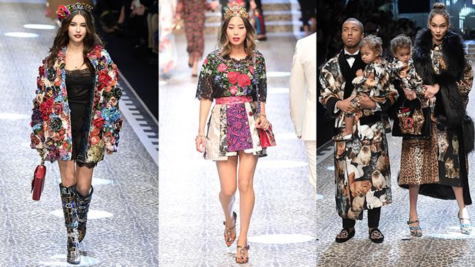Dolce & Gabbana's latest show tapped real people (think: Fashion influencers, singers and celebrity kids) to walk the runway. Here, our favourites.