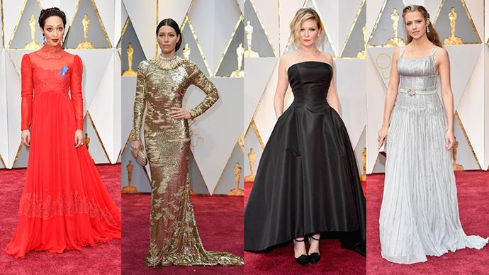 These are the colours that dominated the dresses on at the 2017 Oscars.