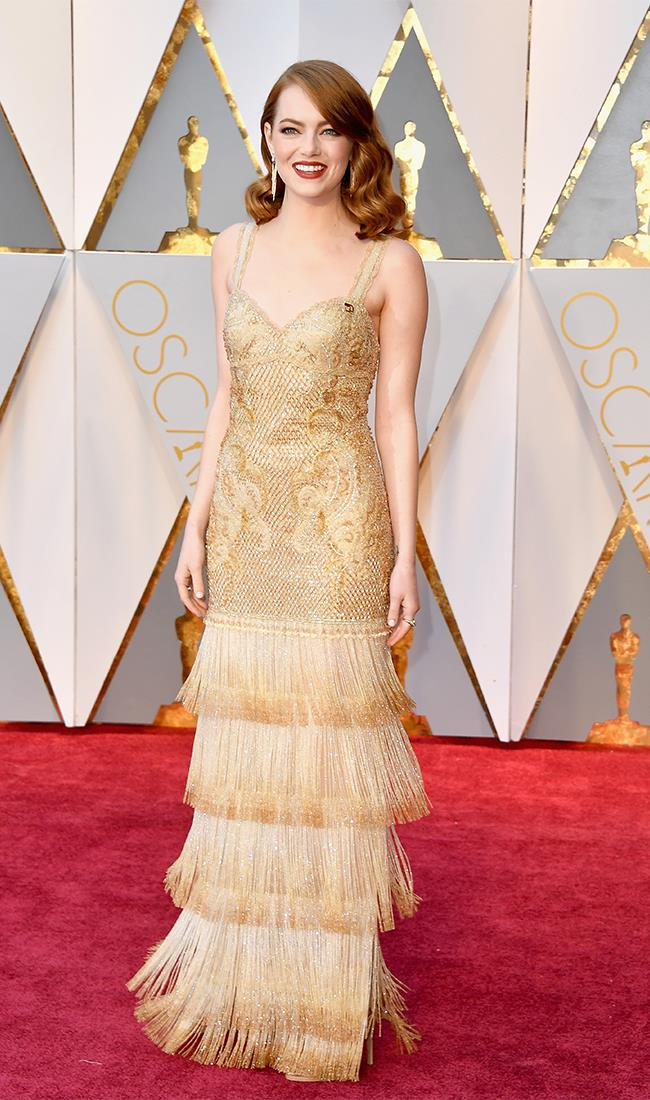 "<strong>Emma Stone: </strong> <br><br> ""This might be controversial but I feel really let down with Emma Stone's Givenchy choice. It's pretty, given, but it falls a bit flat for me. Given how many nominations<em> La La Land</em> is up for I was hoping for a real 'wow' moment from her."" — Alison Izzo, digital managing editor <br><br> ""Emma Stone wearing Givenchy was always going to be a match made in heaven, and this year's red carpet outfit was just that. The combination of gold embroidery and tiered draping sets off her fair complexion and rich auburn hair like nothing else. In short, her look is nothing short of divine."" — Natasha Harding, digital fashion writer <br><br> ""The best. "" — Jessica Matthews, deputy chief sub editor"