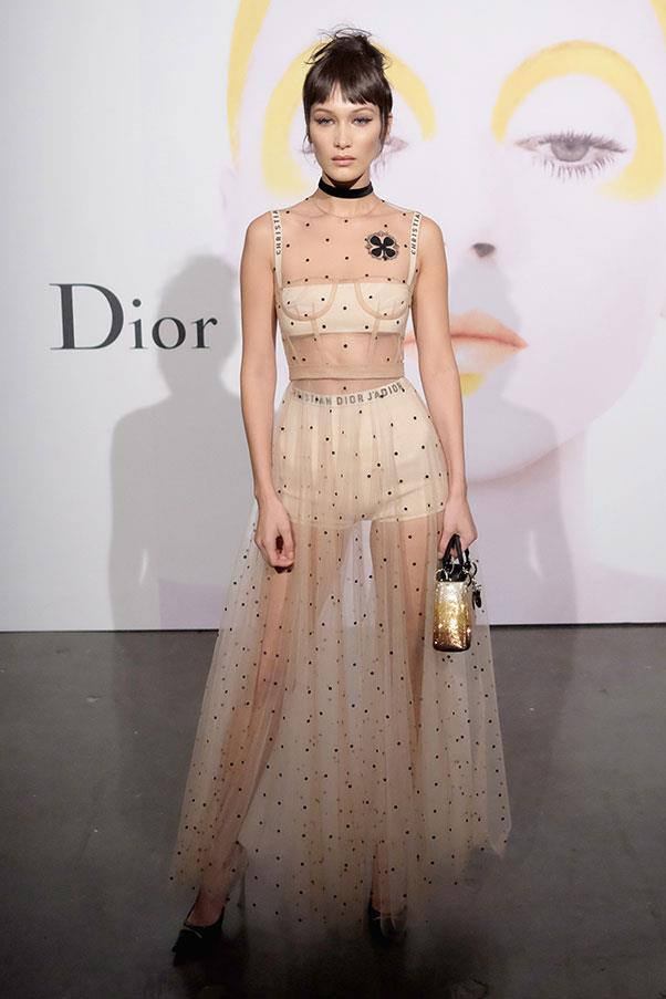 Bella Hadid at a Dior event in New York City, October 2016.
