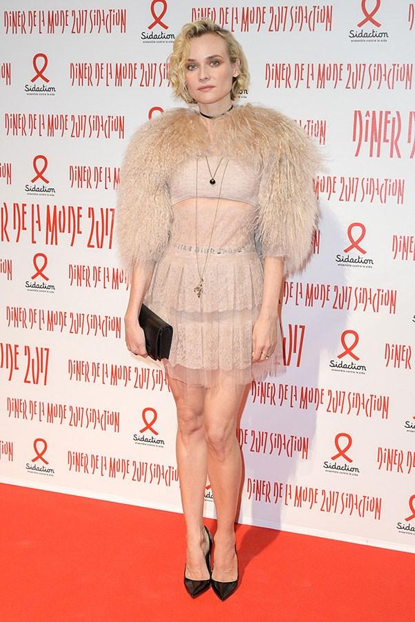 Diane Kruger at a Paris fashion week dinner, January 2017.