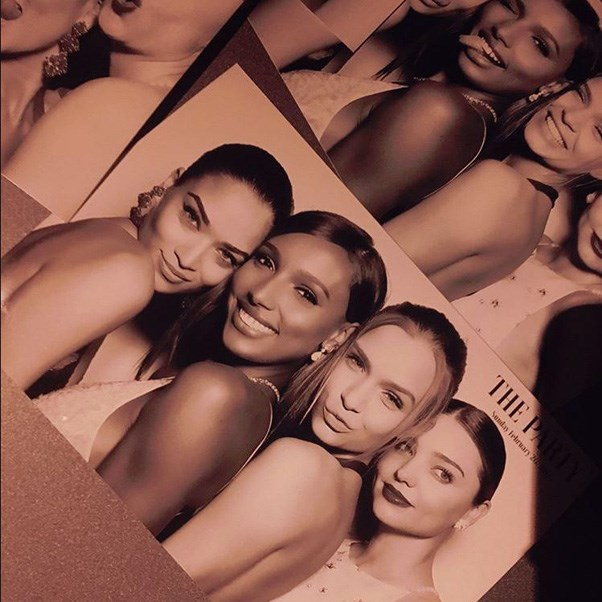 """<strong>There was a photo booth session too—including Miranda Kerr</strong> <br><br> Instagram: <a href=""""https://www.instagram.com/shaninamshaik/"""">@shaninamshaik</a>"""