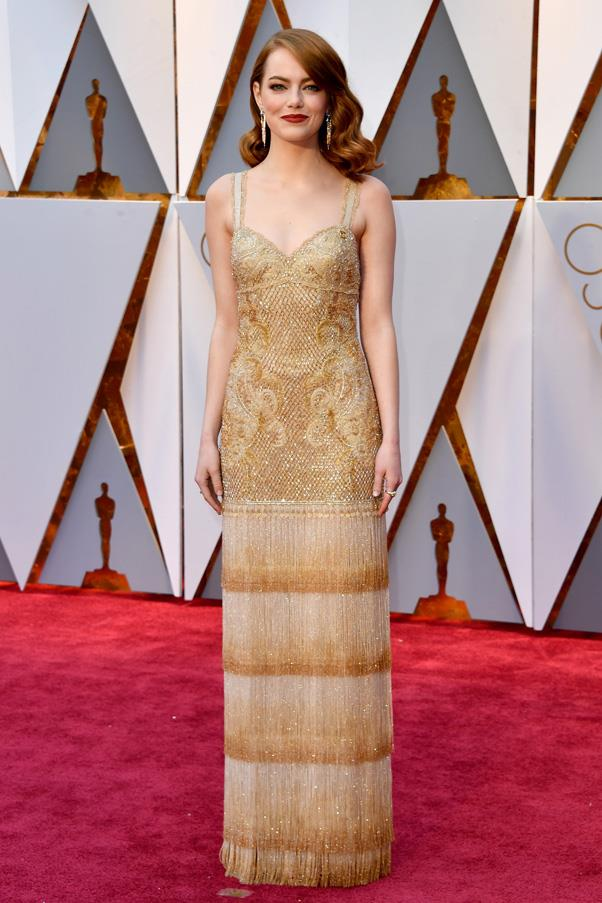 The full-length gown on the red carpet.