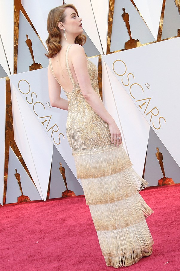 The dress from the back.