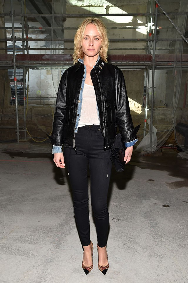 <strong>Saint Laurent</strong> <br>Amber Valletta</br>