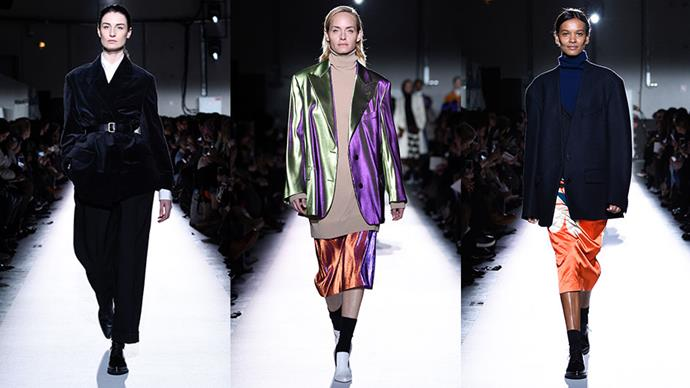 <strong>Dries Van Noten</strong><br><br> To celebrate their 100th runway show, the brand only cast models who had walked for them before, including Van Noten's muses from the '90s. Cue: Amber Valletta, Erin O'Connor, Liya Kebede and Carolyn Murphy.