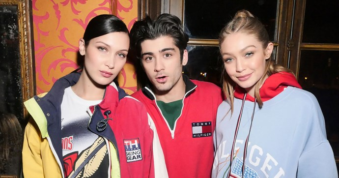 Every must-see moment from inside the TommyXGigi varsity-inspired Paris fashion week party.