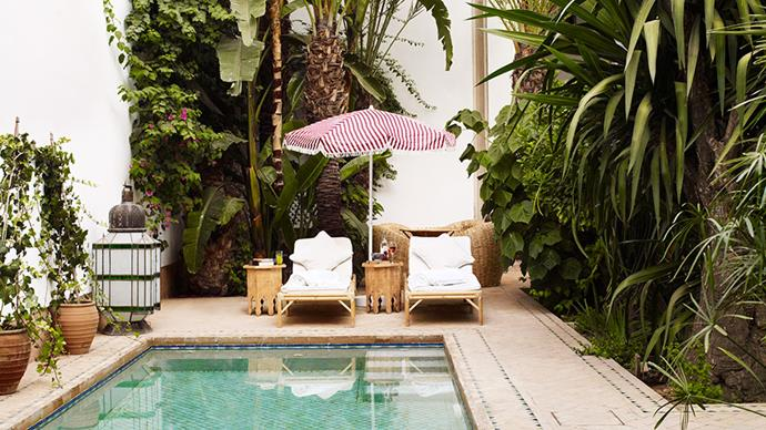 "His first retreat, <a href=""http://www.l-hotelmarrakech.com/"">L'Hôtel Marrakech</a>, is situated in part of what used to be Medina's Ciadel Palace."