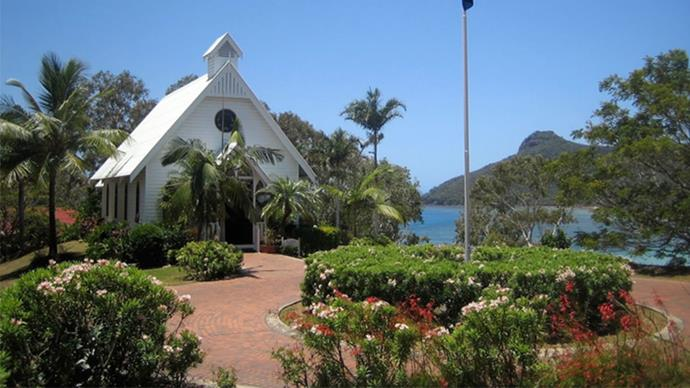 <strong>All Saints Chapel, Hamilton Island, Australia</strong> <br><br> Idyllic views in our own backyard. This chapel overlooks Catseye Bay on Hamilton Island.