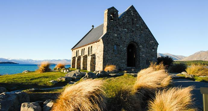 <strong>Church of the Good Shepherd, Fairlie, New Zealand</strong> <br><br> This church's surroundings have been left in its pristine and natural state, making visitors feel like they've stepped back in time.