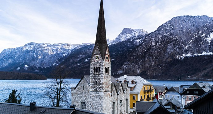 <strong>Chapel of St. Michael's Church, Hallstatt, Austria</strong> <br><br> Within the aptly-named, 'Bone House' of the chapel of St. Michael's Church, lives a display of over 1,200 decorated skulls. Visitors can also enjoy picturesque rolling views of the mountains, lake and town below.