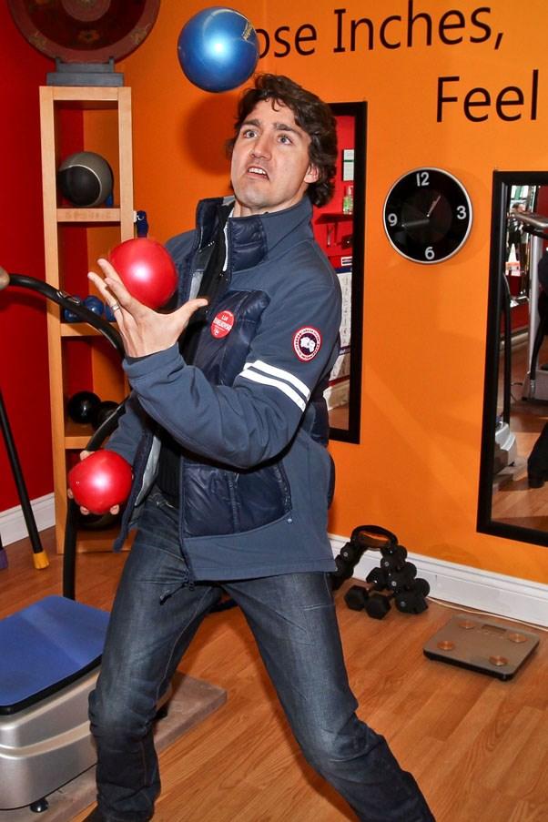 Flaunting his hidden talent of juggling, 2011