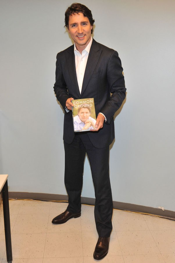 Promoting his book, Common Ground, 2014