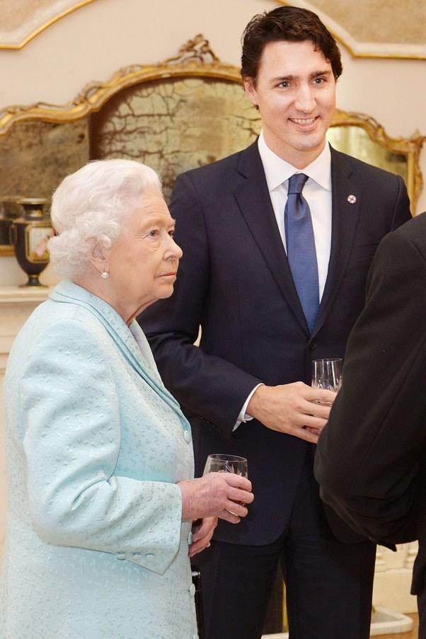 Having a drink with Queen Elizabeth II, 2015