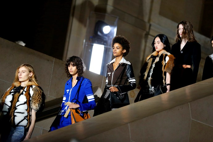 Closing fashion month with a bang, Louis Vuitton showcased its autumn/winter 2017 collection at none other than the Louvre. <BR><BR> Here, every must-see moment.