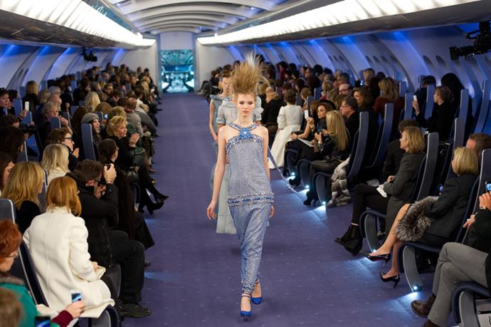 <p> <strong>THE AIRPLANE AISLE</strong> <P> <em>Couture '12</em>