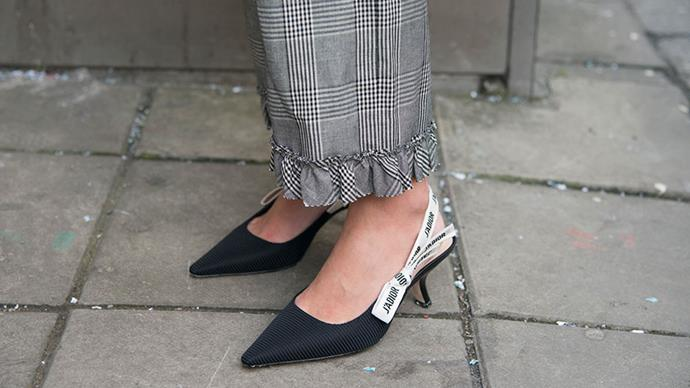 Dior shoes at Paris fashion week.