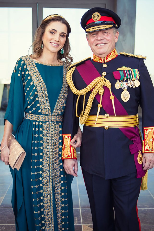 <strong>Queen Rania of Jordan</strong> <br><br> Rania, the queen consort of Jordan, went to the American University in Cairo, where she received a degree in Business Administration. After her graduation she held a marketing job at Citibank, and then worked at Apple in Amman. She is married to the King of Jordan, Abdullah bin al-Hussein.