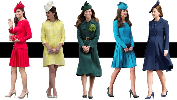 Having been a royal for roughly six years, Catherine, Duchess of Cambridge, has got the princess brief nailed. From her immaculately styled hair to her perfectly matched outfits, Kate very rarely—if ever—puts a foot wrong in the sartorial department. And that counts for hats, too. Here, we prove that Kate can wear one in any colour, any time.