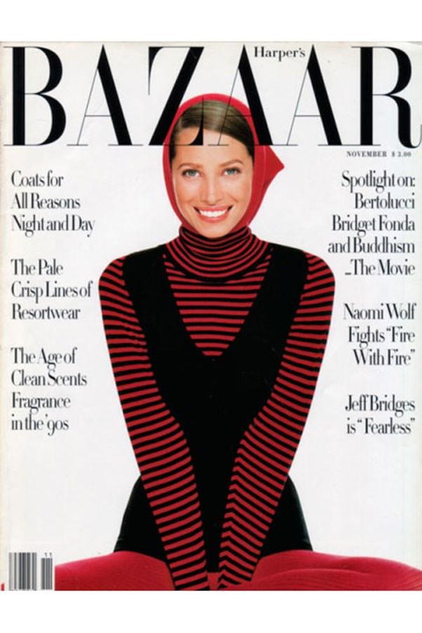 <em>Harper's BAZAAR</em> US, November 1993. Shot by Melanie Griffiths.