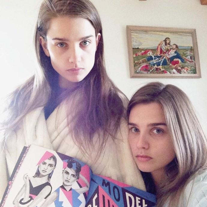 """<a href=""""https://www.instagram.com/elazic/?hl=en"""">Elena</a> and <a href=""""https://www.instagram.com/manilazic/?hl=en"""">Manuela Lazic</a>.<p> <a href=""""http://www.elitemodel.fr/fr/mainboard/women/333746/elena-lazic"""">Elite Paris</a>."""