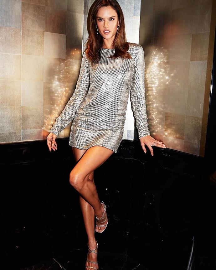 """Alessandra Ambrosio showed off her outfit for the launch event. <br><br> Image: <a href=""""https://www.instagram.com/p/BRXOv2Lhnbw/"""">@alessandraambrosio</a>"""
