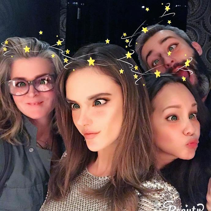 """Alessandra Ambrosio and her team got cute with this filter. <br><br> Image: <a href=""""https://www.instagram.com/p/BRfPm_-Bwal/"""">@alessandraambrosio</a>"""