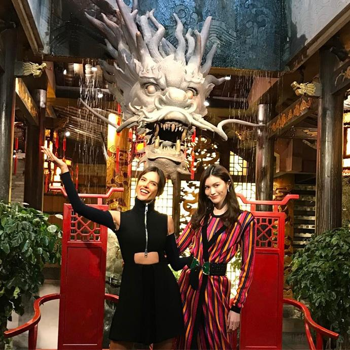 """Alessandra Ambrosio and Sui He launched the Chengdu store. <br><br> Image: <a href=""""https://www.instagram.com/p/BRdORkRBh7U/"""">@alessandraambrosio</a>"""