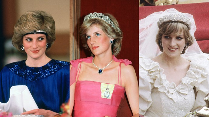 From tailored suits, to heart-stopping gowns, and one very big wedding dress, Diana, Princess of Wales, was known for her impressive and varied wardrobe. And, being a princess and having the approval of Queen Elizabeth, meant that those looks were often topped with sparkling tiaras.