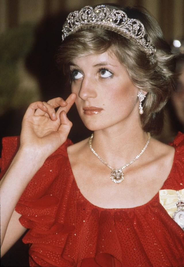 Wearing the Spencer Tiara in 1983.