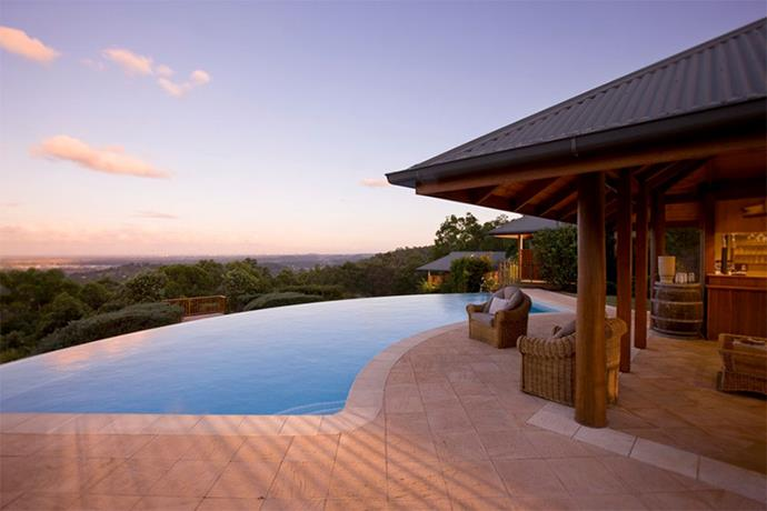 "<a href=""http://www.peppers.com.au/queensland/gold-coast/"" target=""_blank""><strong>Peppers Ruffles Lodge & Spa, Gold Coast Hinterland</strong></a> <br><br> This outdoor, heated infinity pool could not be more zen."