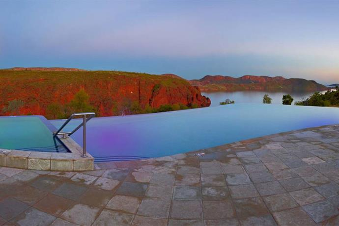 "<a href=""http://www.lakeargyle.com/accommodation/infinity-pool/"" target=""_blank""><strong>Lake Argyle Resort, Western Australia</strong></a> <br><br> This 35-metre wet-edge infinity pool boasts one of Australia's most spectacular views. It's open to all day guests, accommodation and caravan park guests."