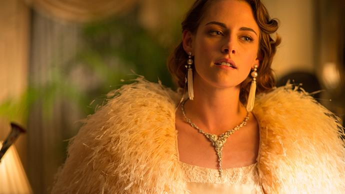 <p>Chanel for <em>Café Society (2016)</em><p> Having Chanel ambassador Kristen Stewart starring meant that Chanel were more than happy to collaborate with Woody Allen for <em>Café Society</em>. The fashion house loaned several of its archival pieces from the 1930s, including jewellery and clothing, to costume designer Suzy Benzinger.