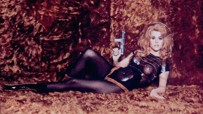 <p>Paco Rabanne for <em>Barbarella (1968)</em><p> To dress its naughty outer space agent, <em>Barbarella's </em>director, Roger Vadim, turned to fashion's resident wild child and l'enfant terrible, Paco Rabanne, who created the sexy, silly, space-inappropriate costumes.