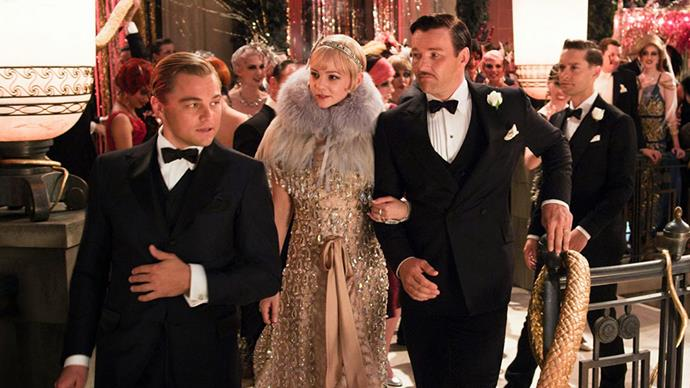 <p>Miuccia Prada and Tiffany & Co. for <em>The Great Gatsby (2013)</em><p> Although she didn't design the entirety of the wardrobe, Miuccia Prada contributed both Prada and Miu Miu archival designs to the film. Tiffany & Co. provided all the jewellery.