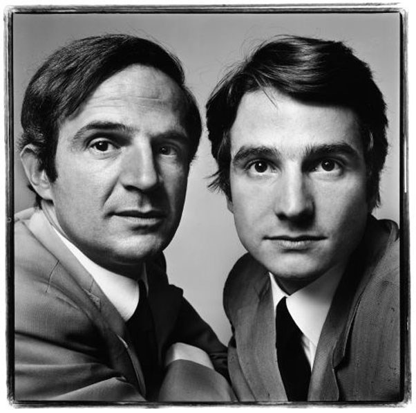 François Truffaut and Jean-Pierre Léaud, film director and actor, Paris, June 20, 1971