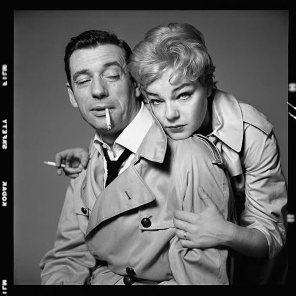 Actors Yves Montand and Simone Signoret, New York, October 23, 1959