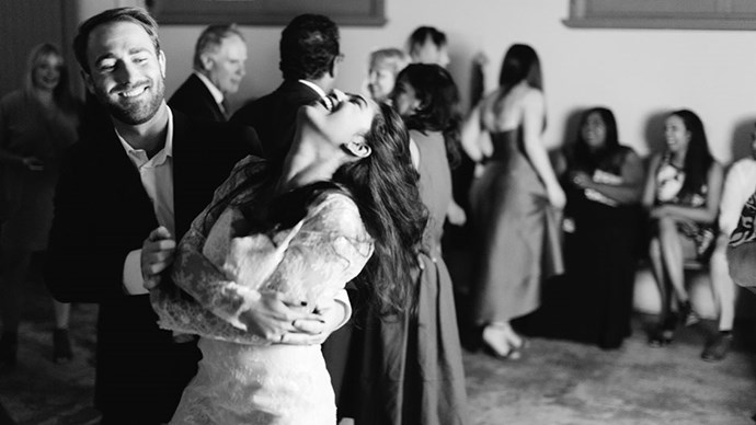 <strong>On their first dance: </strong> <br></br> Our first dance was to 'You & Me' by Penny and the Quarters, it's been my favourite song since I was 15.