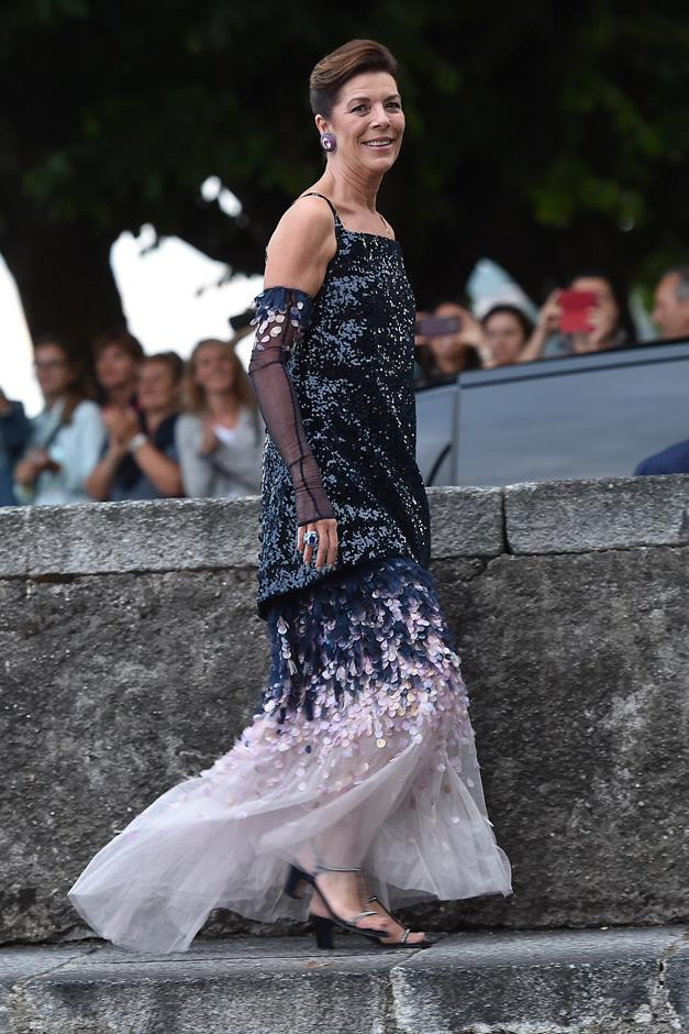Attending the wedding of Pierre Casiraghi and Beatrice Borromeo in 2015.
