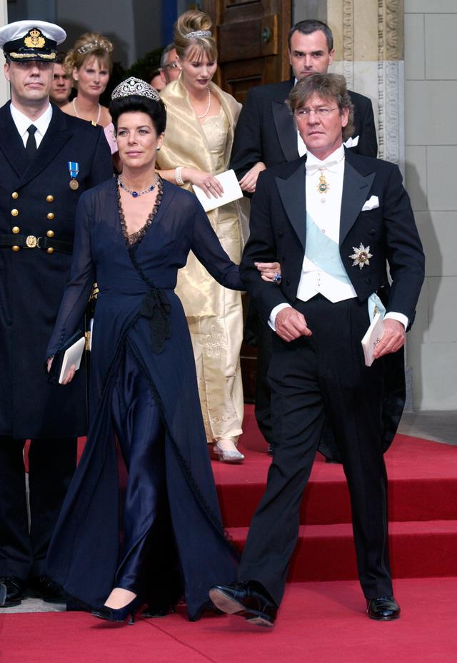 Attending a wedding in 2004, wearing the Brunswick Diamond Tiara.