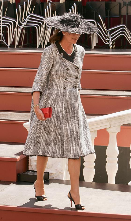 At her brother Prince Albert's enthronement in 2005.