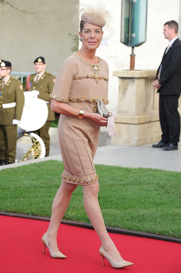 Wearing Chanel to the wedding of Prince Guillaume of Luxembourg and Stephanie de Lannoy.